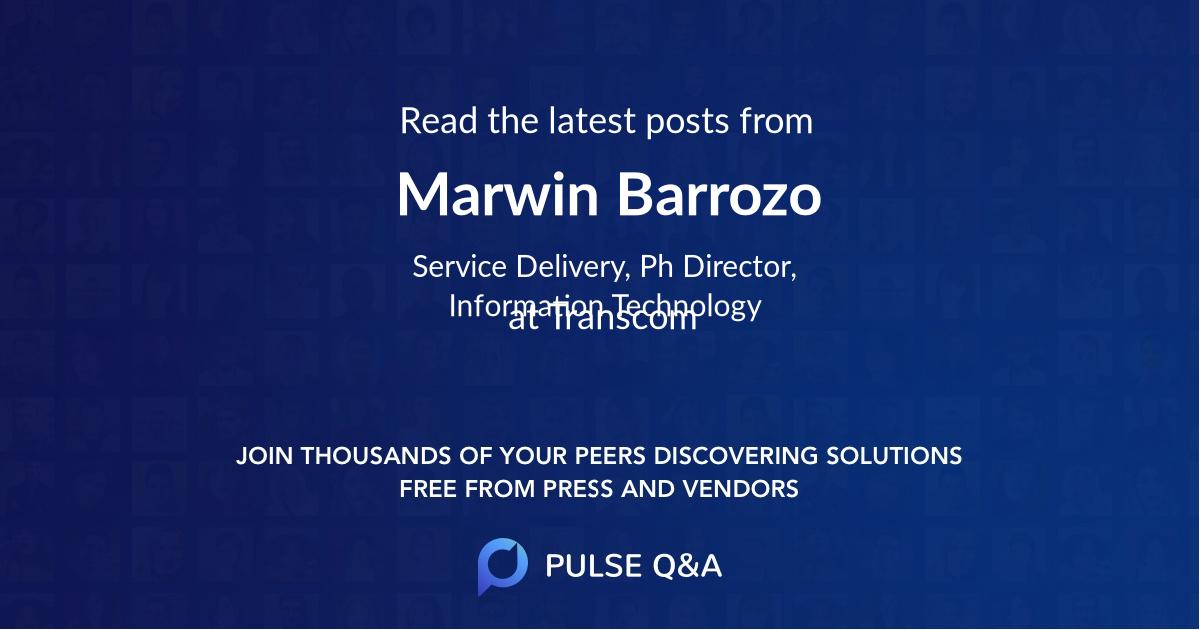 Marwin Barrozo