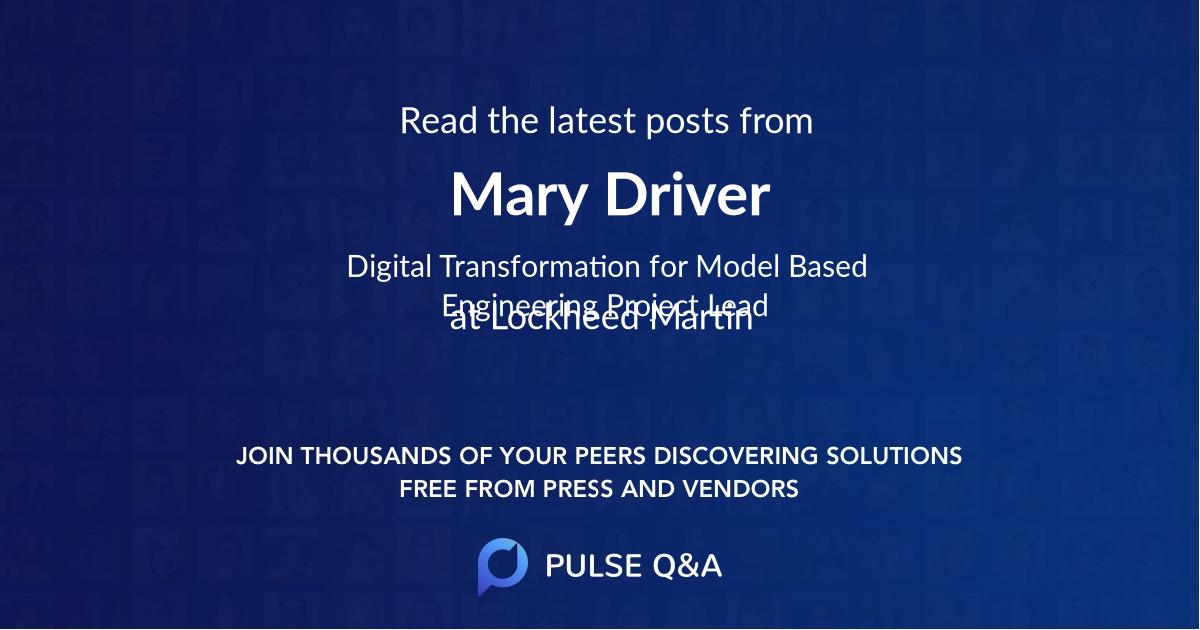 Mary Driver