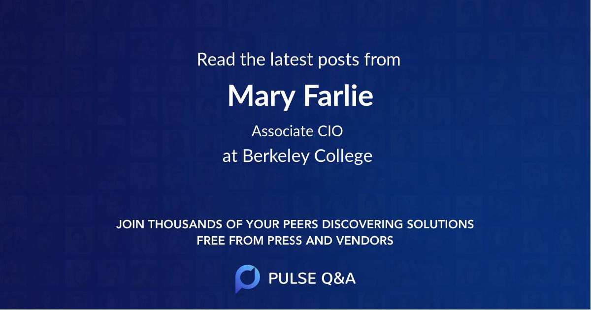 Mary Farlie