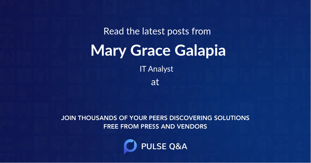 Mary Grace Galapia