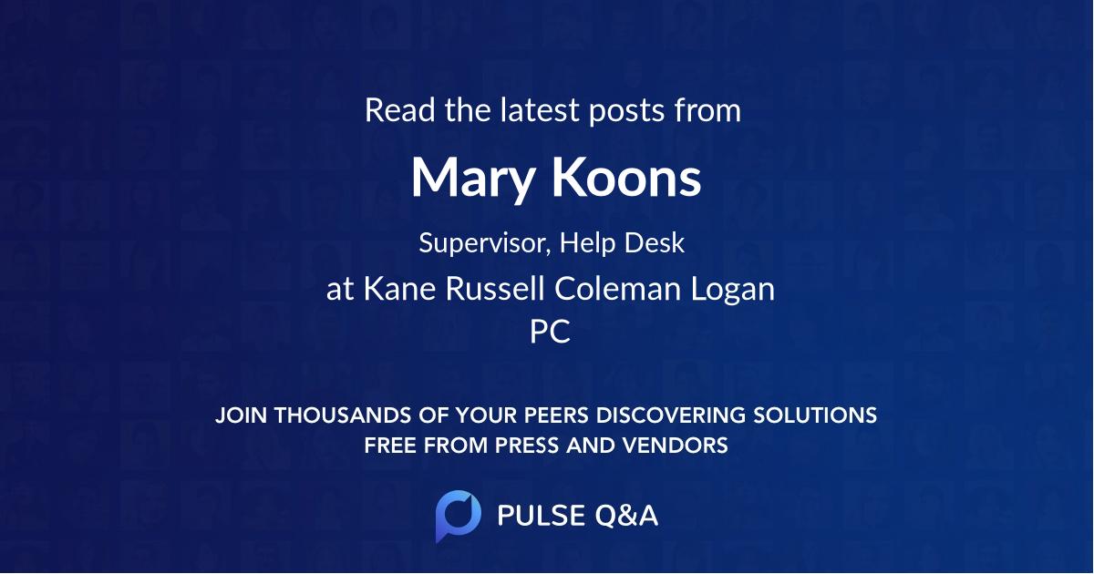 Mary Koons
