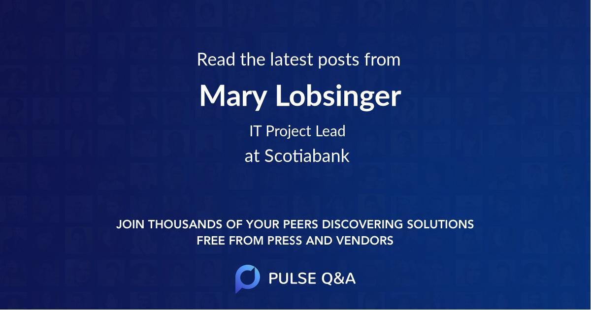 Mary Lobsinger