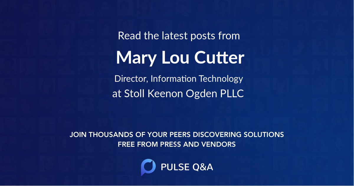 Mary Lou Cutter