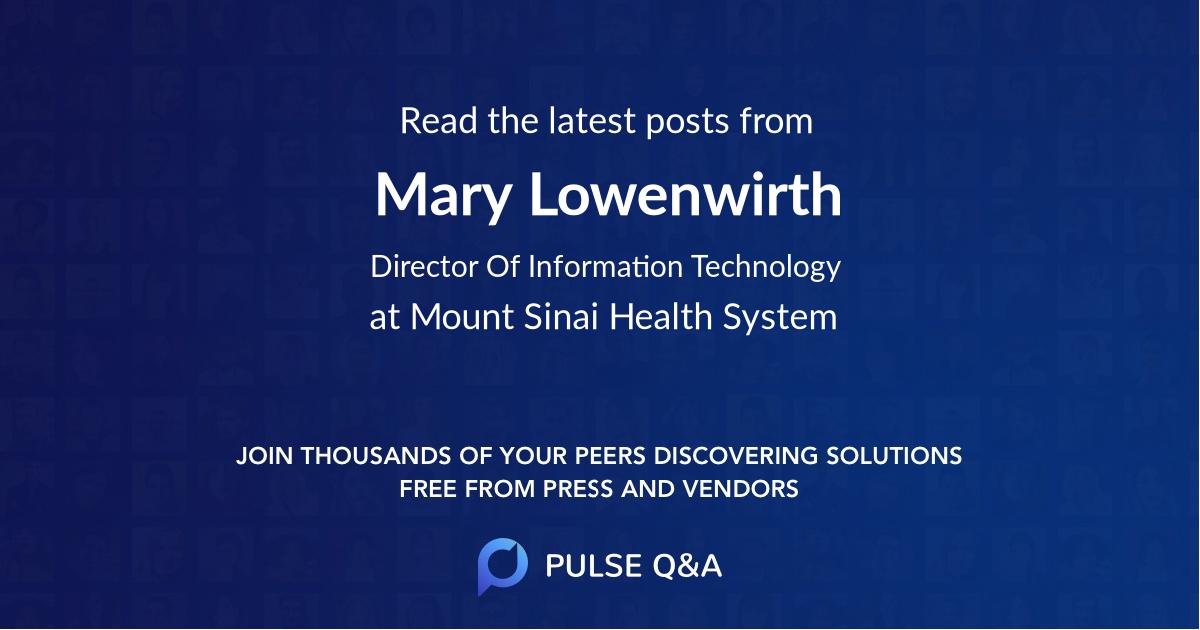 Mary Lowenwirth