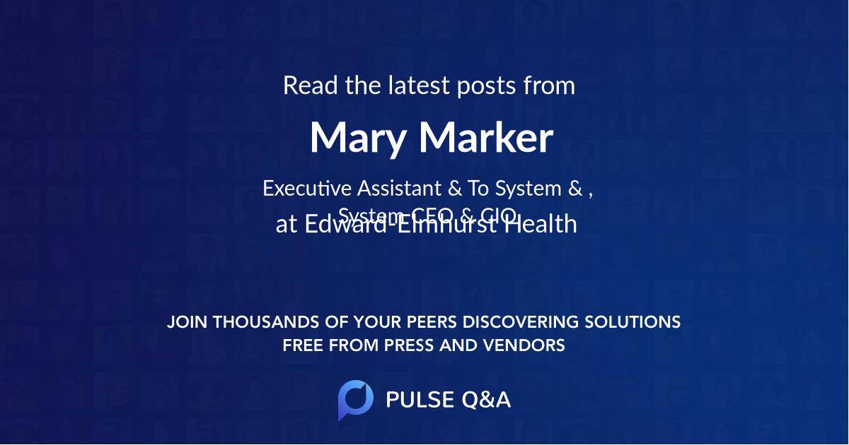 Mary Marker
