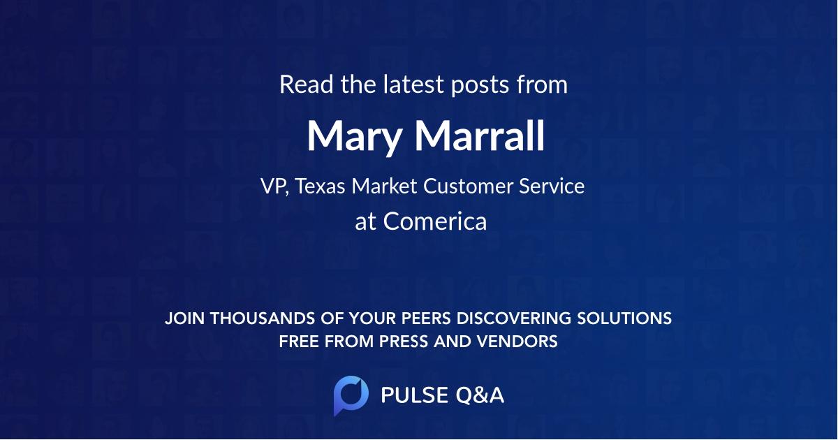 Mary Marrall