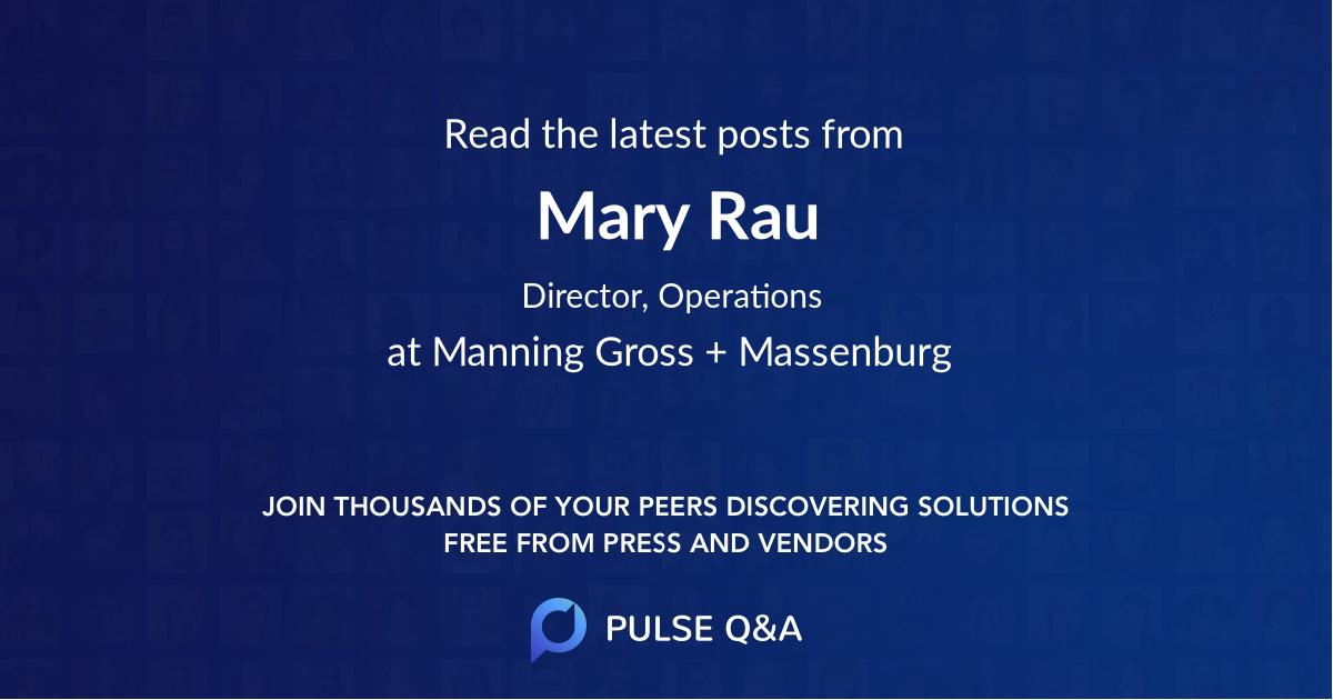 Mary Rau