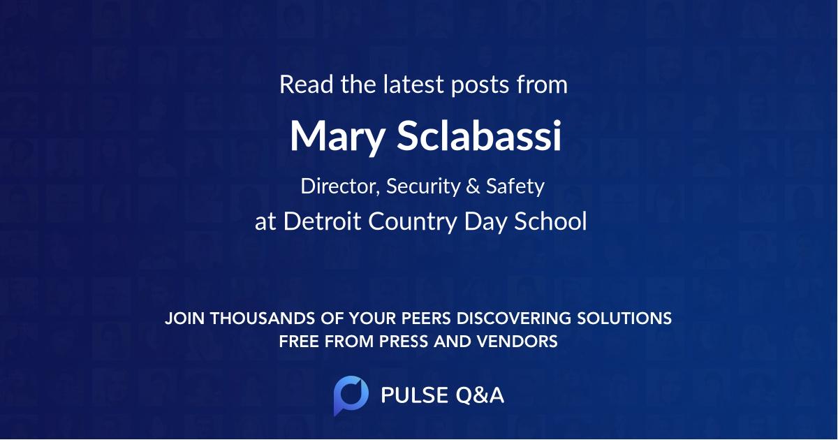 Mary Sclabassi