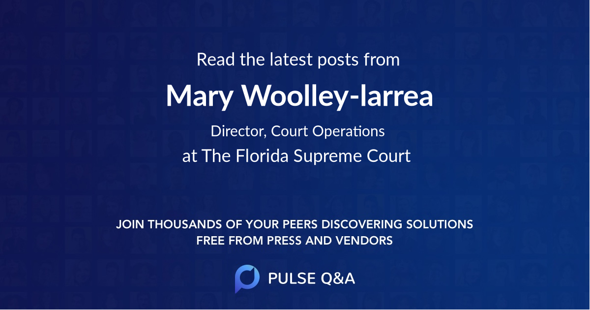 Mary Woolley-larrea
