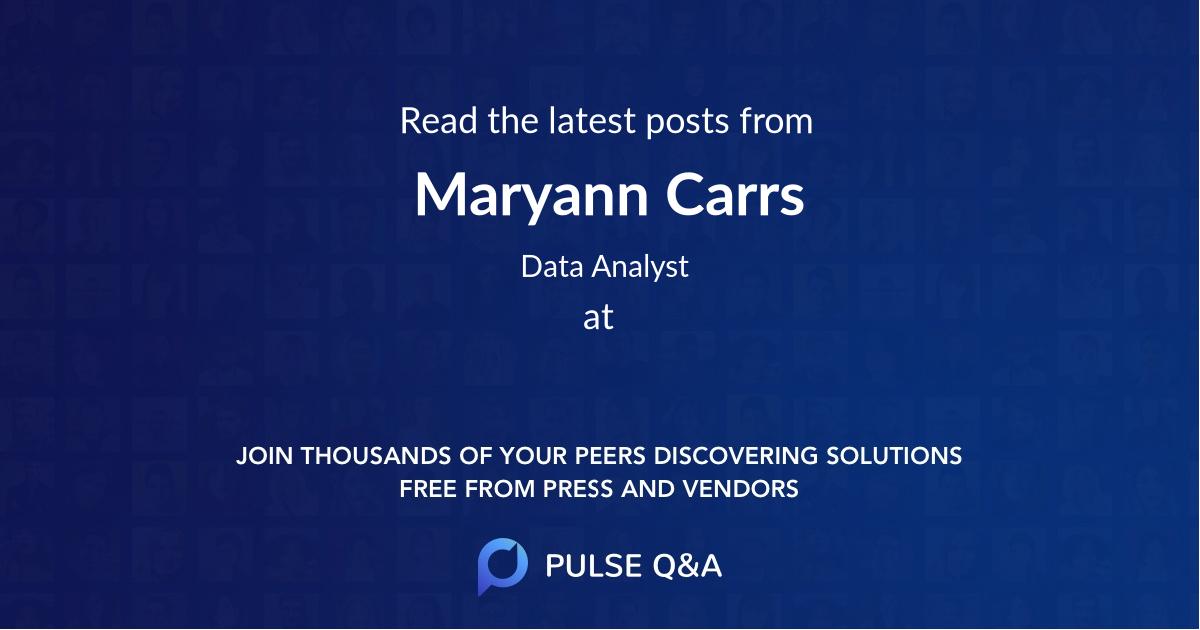 Maryann Carrs