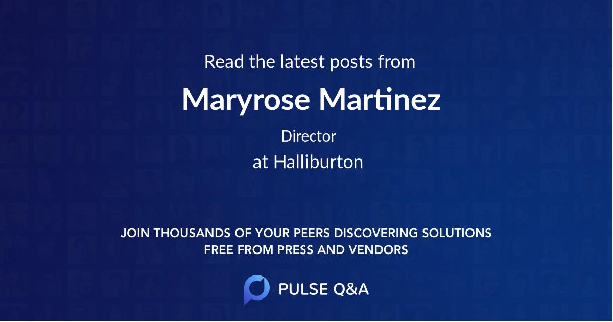 Maryrose Martinez