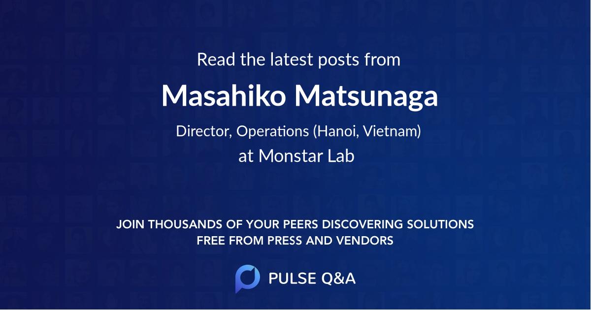 Masahiko Matsunaga