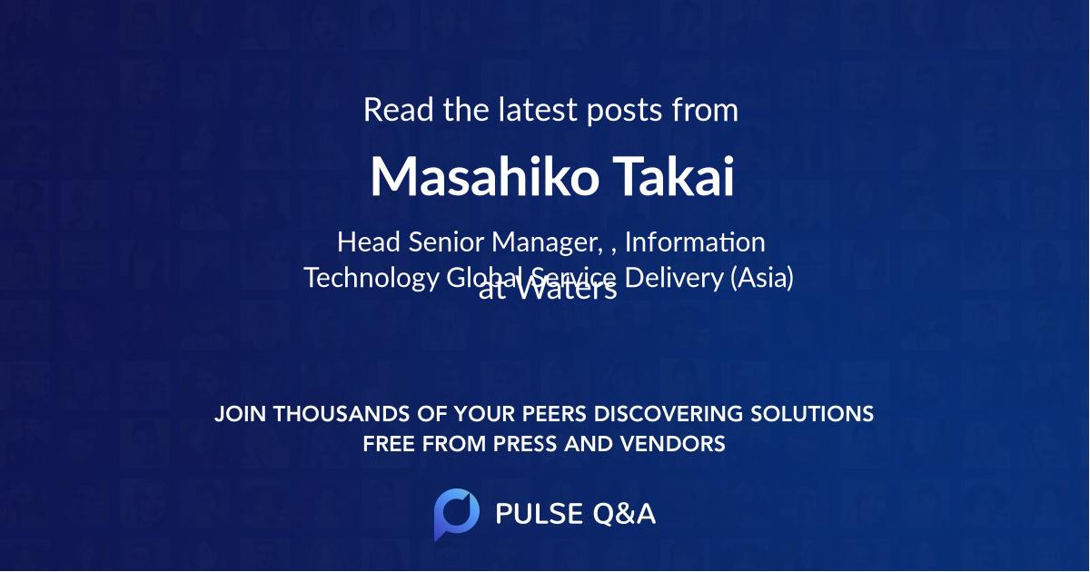 Masahiko Takai