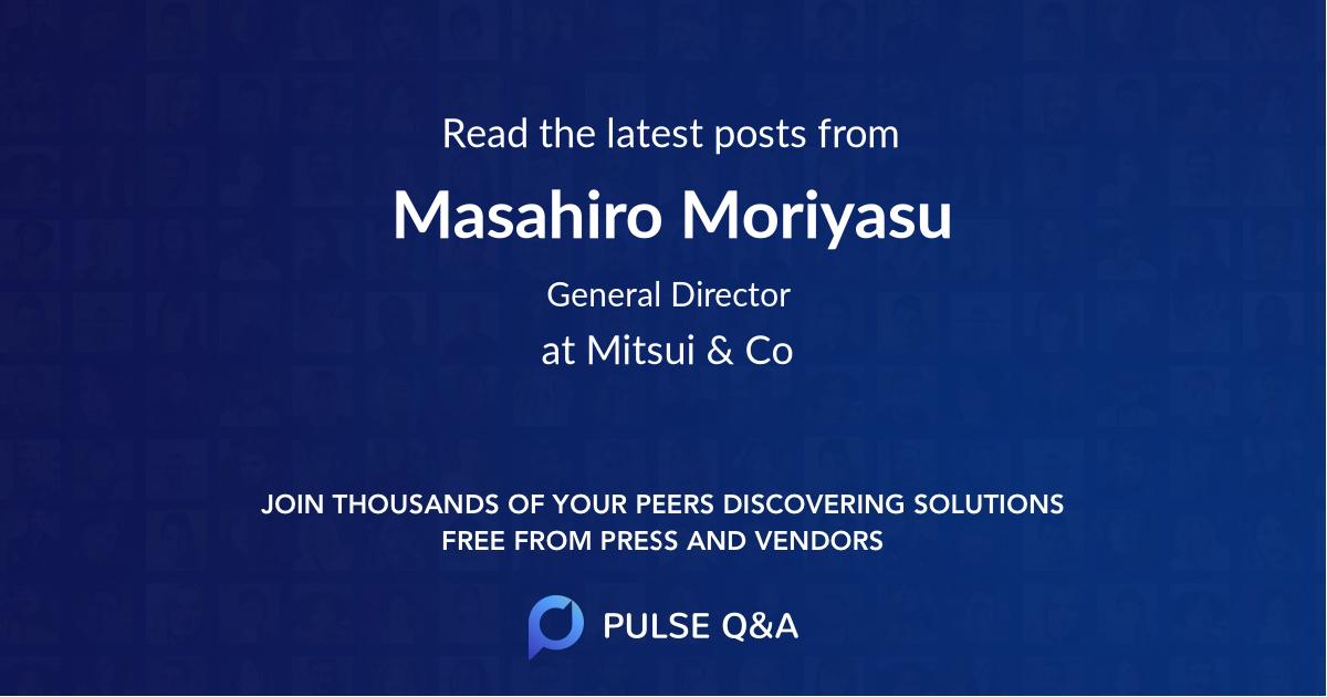 Masahiro Moriyasu