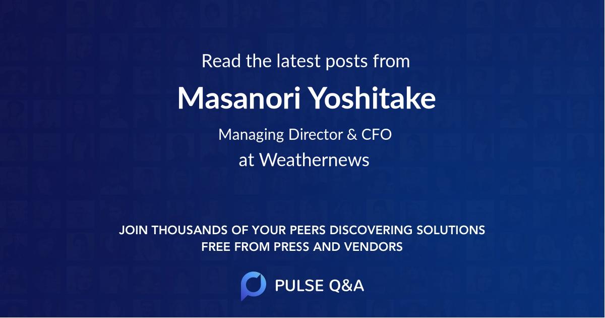 Masanori Yoshitake