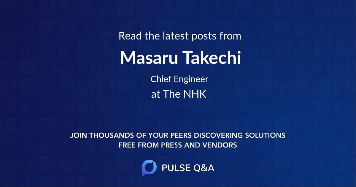 Masaru Takechi