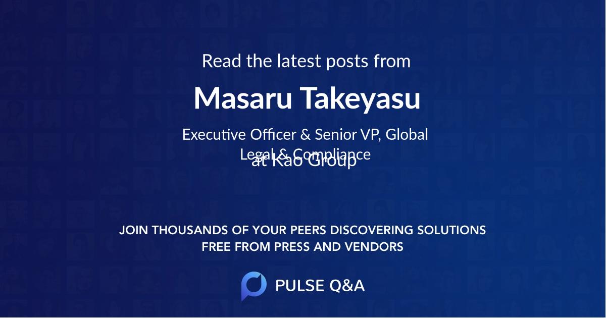 Masaru Takeyasu