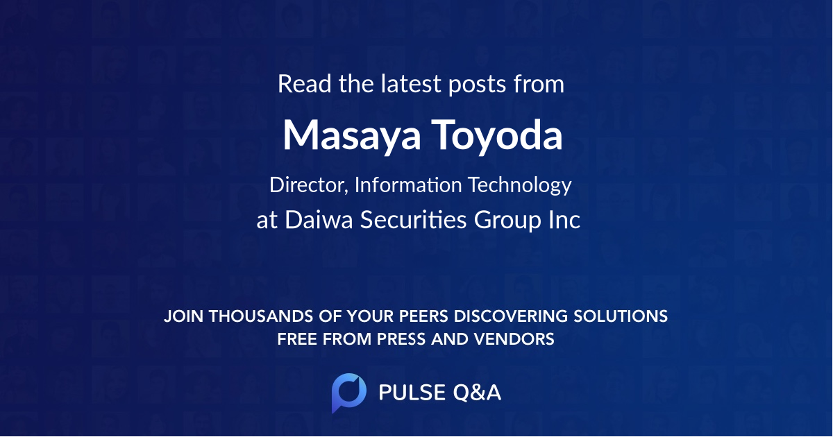 Masaya Toyoda