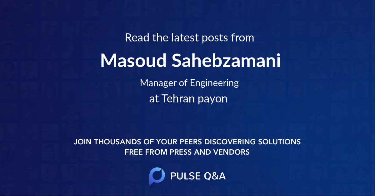 Masoud Sahebzamani