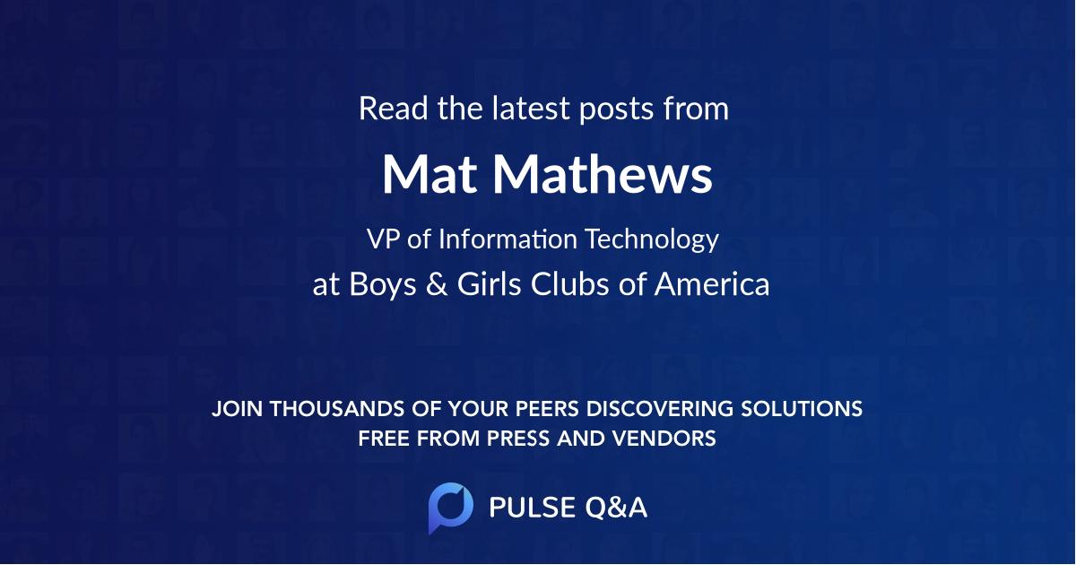 Mat Mathews
