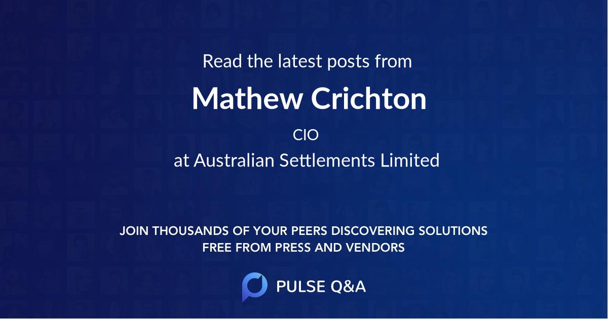 Mathew Crichton