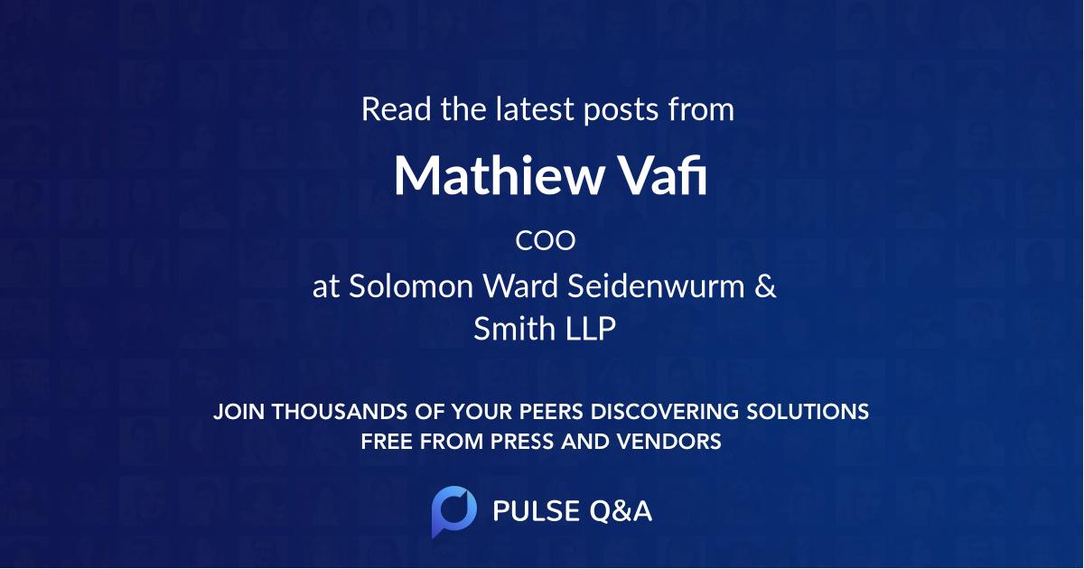 Mathiew Vafi