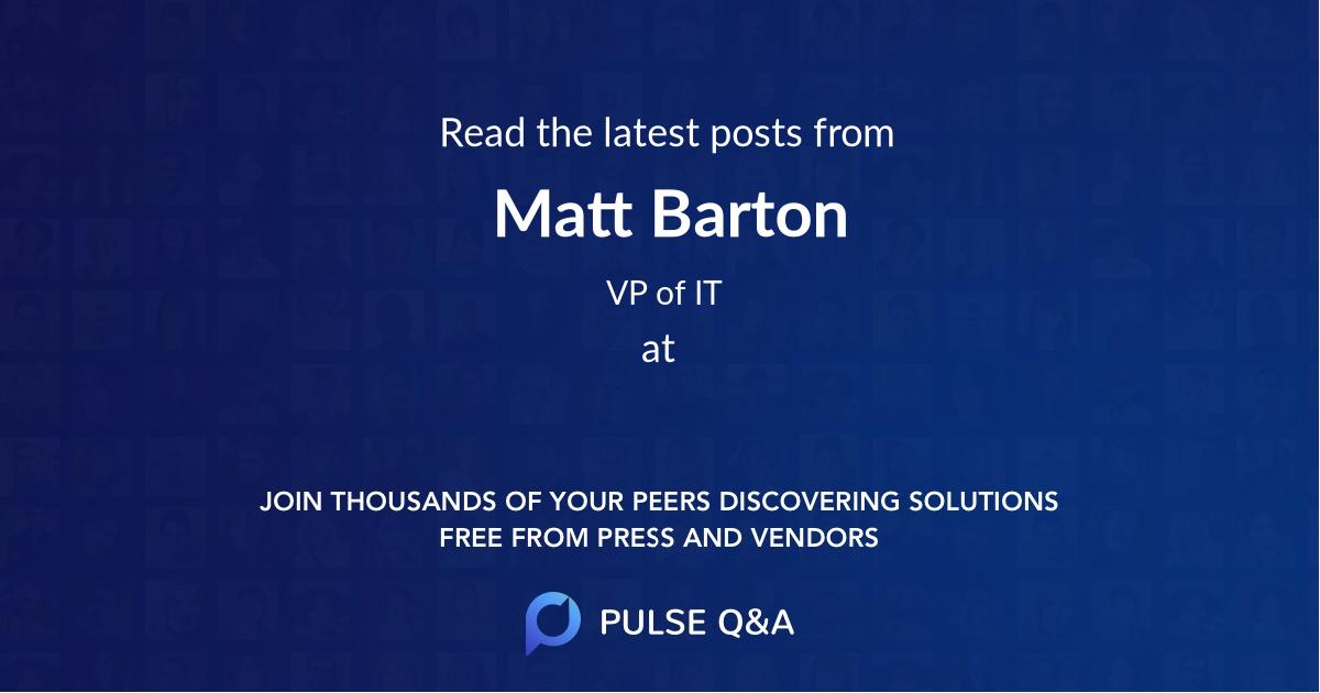 Matt Barton