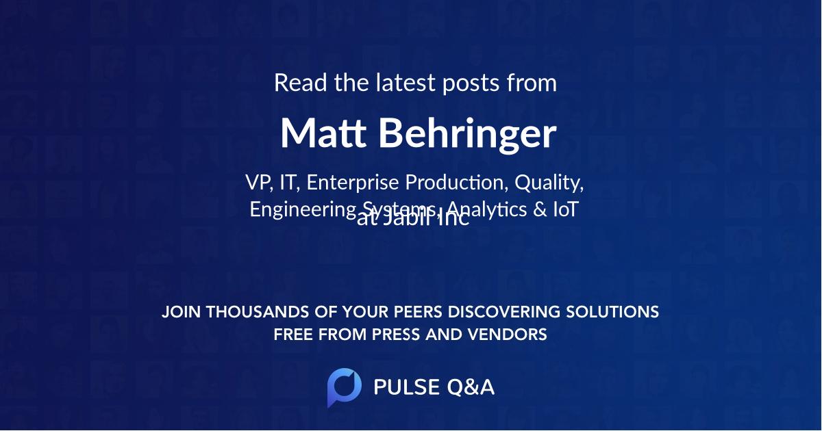 Matt Behringer