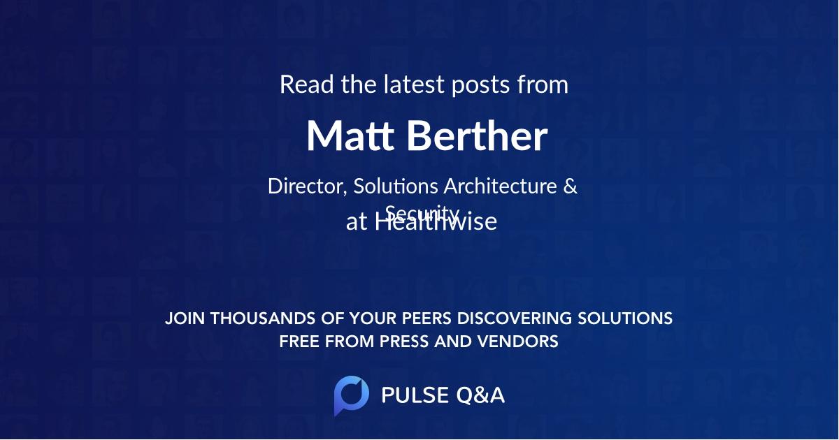 Matt Berther