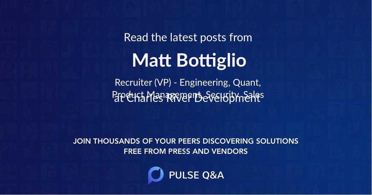 Matt Bottiglio