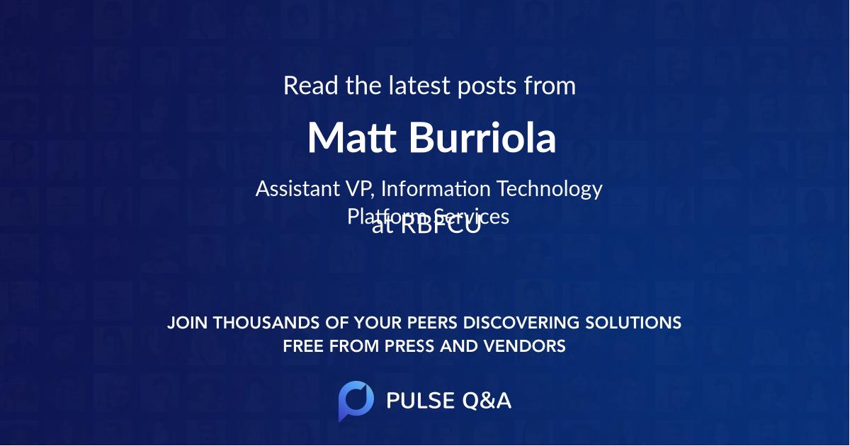 Matt Burriola