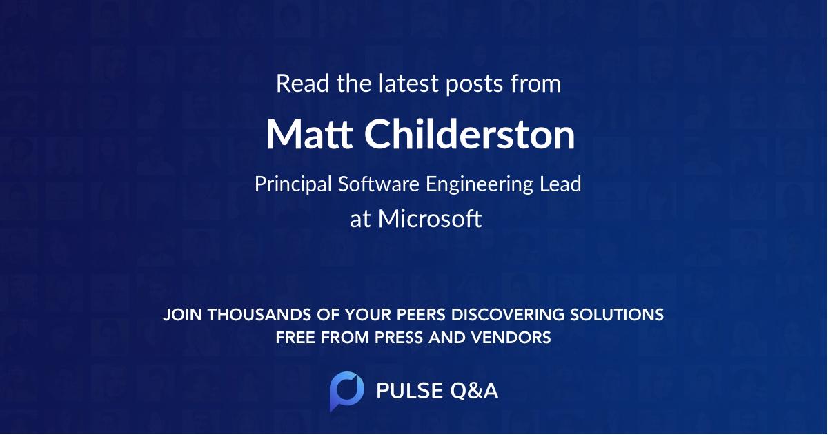 Matt Childerston