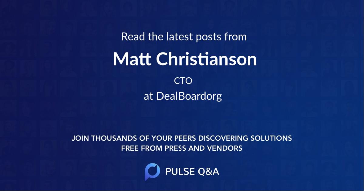 Matt Christianson