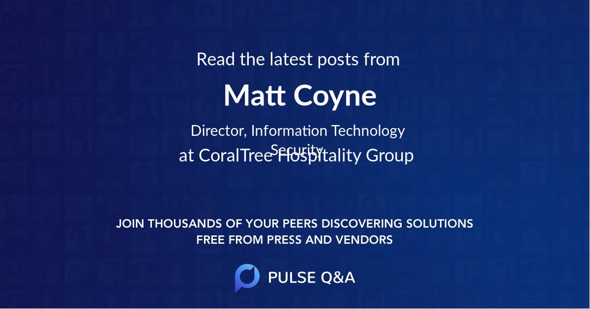 Matt Coyne