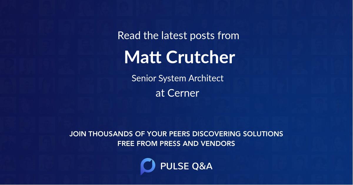 Matt Crutcher