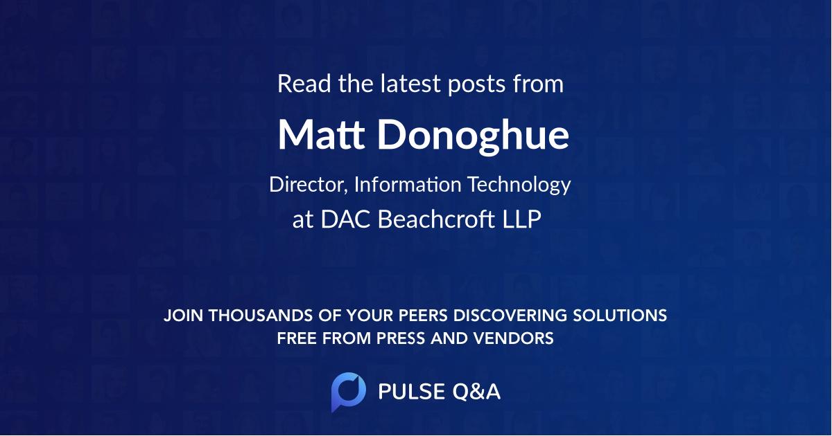 Matt Donoghue