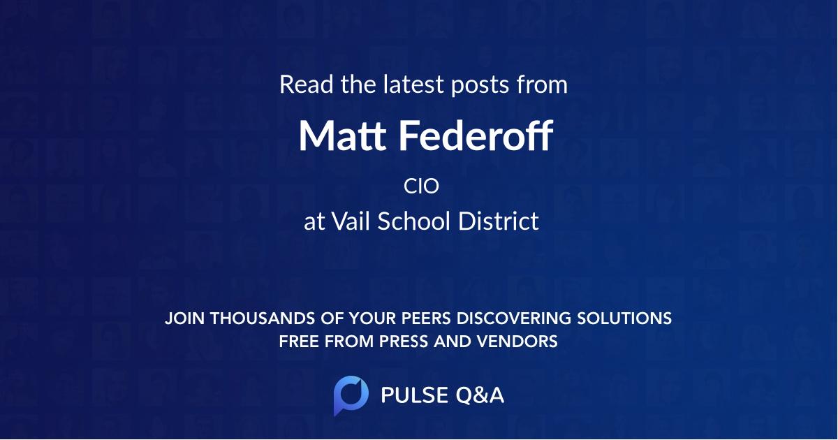 Matt Federoff