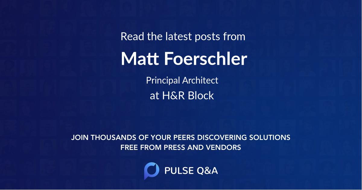 Matt Foerschler