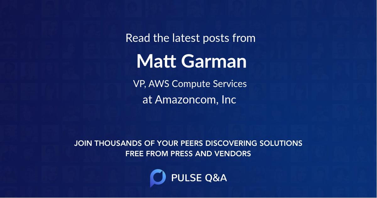 Matt Garman