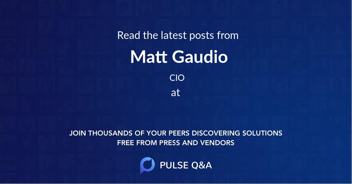 Matt Gaudio