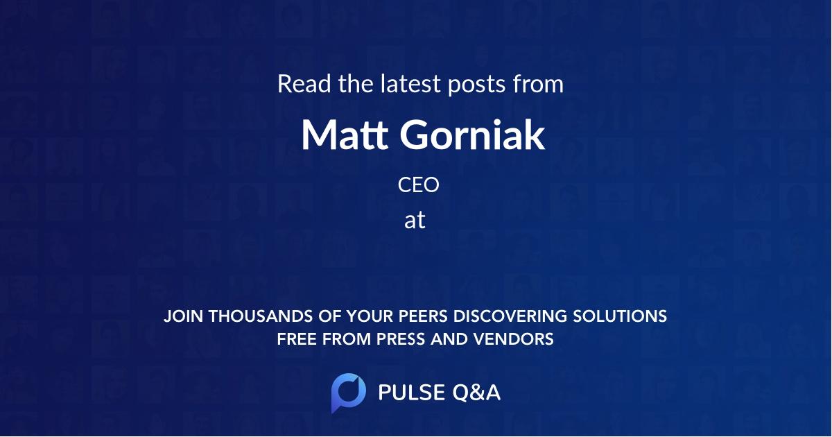 Matt Gorniak