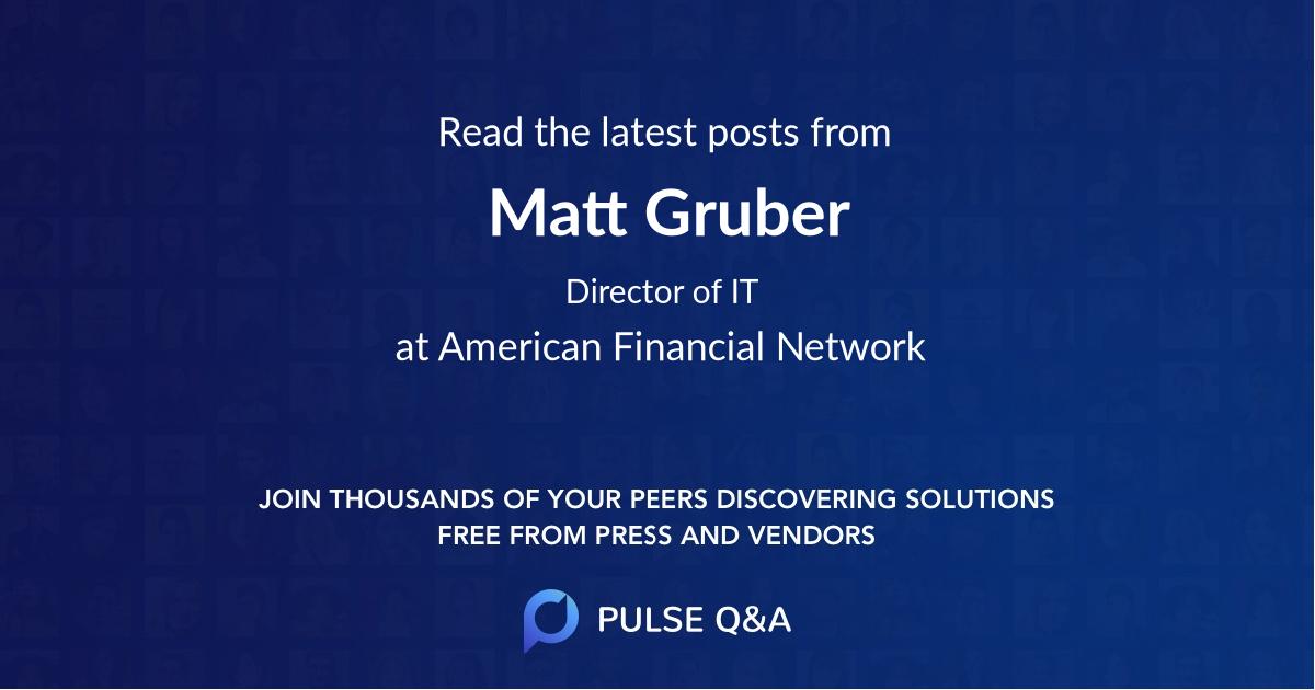 Matt Gruber