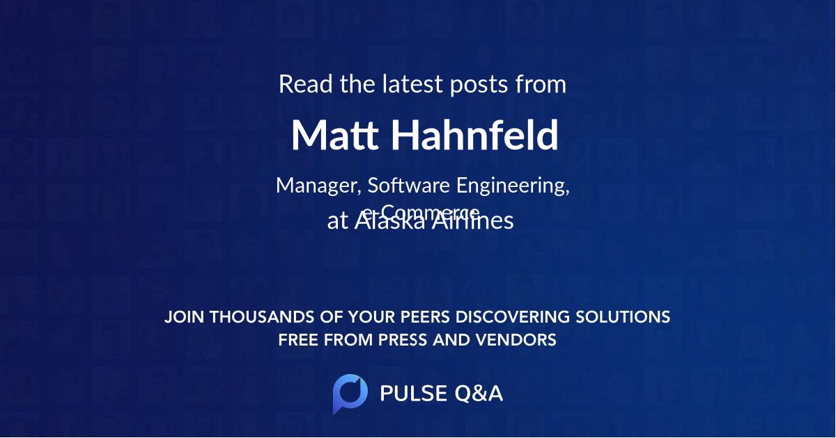 Matt Hahnfeld