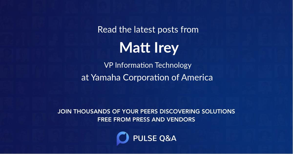 Matt Irey