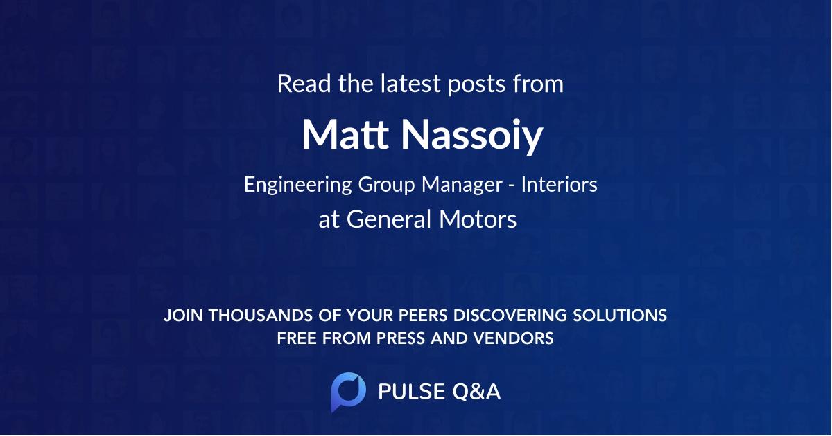 Matt Nassoiy