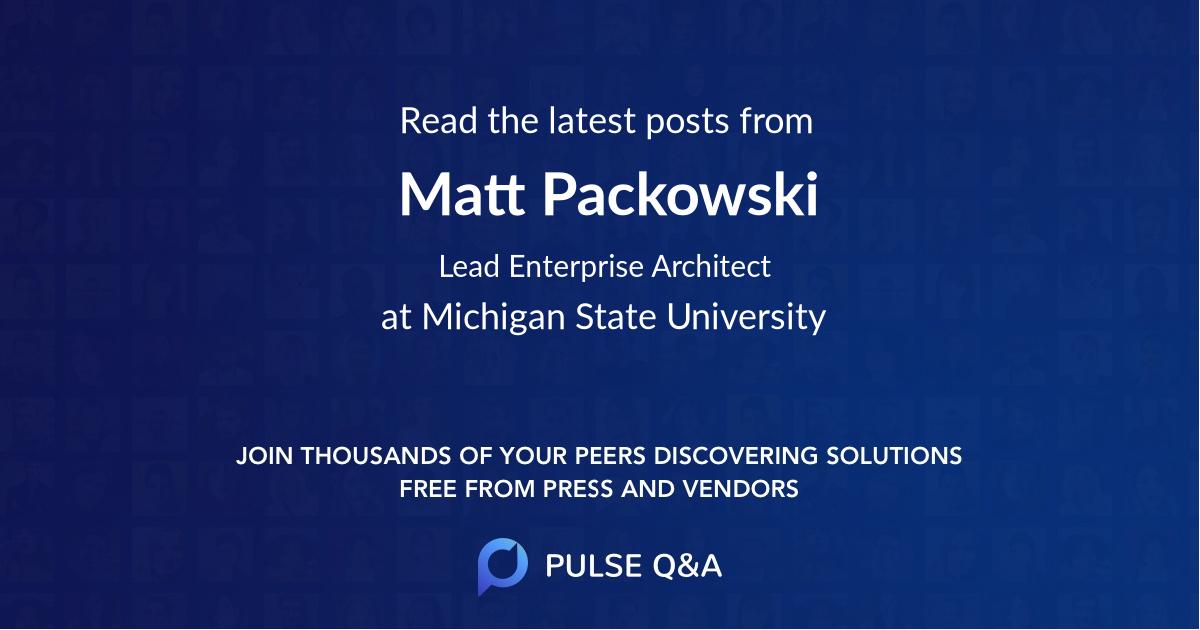 Matt Packowski