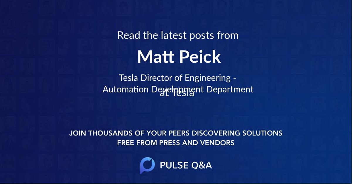 Matt Peick