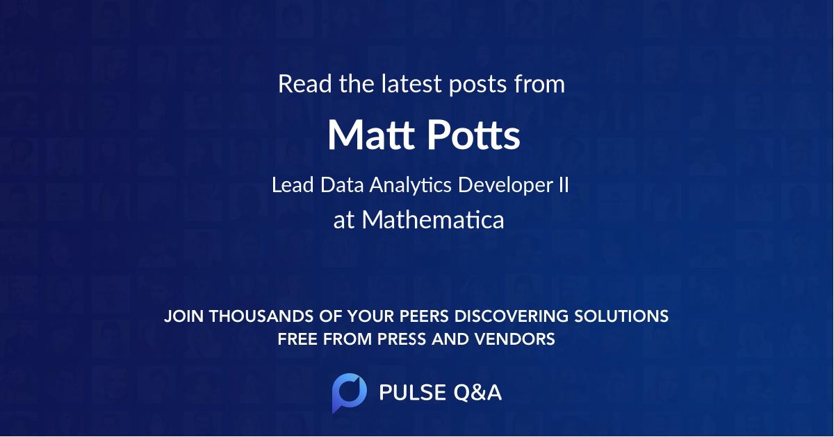 Matt Potts
