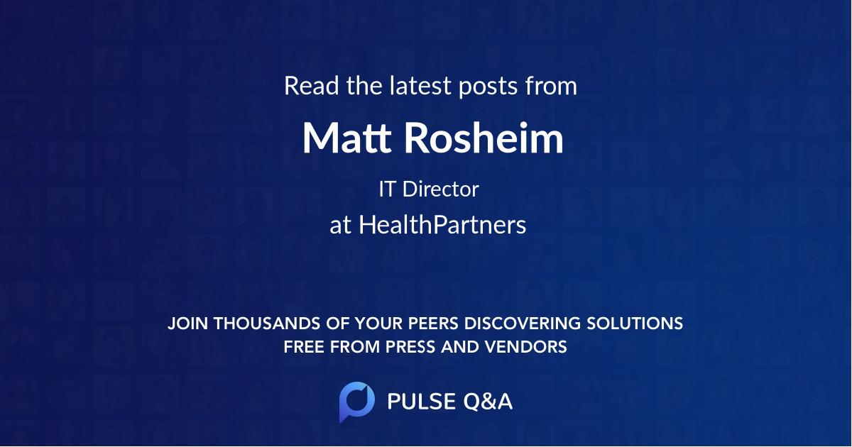 Matt Rosheim