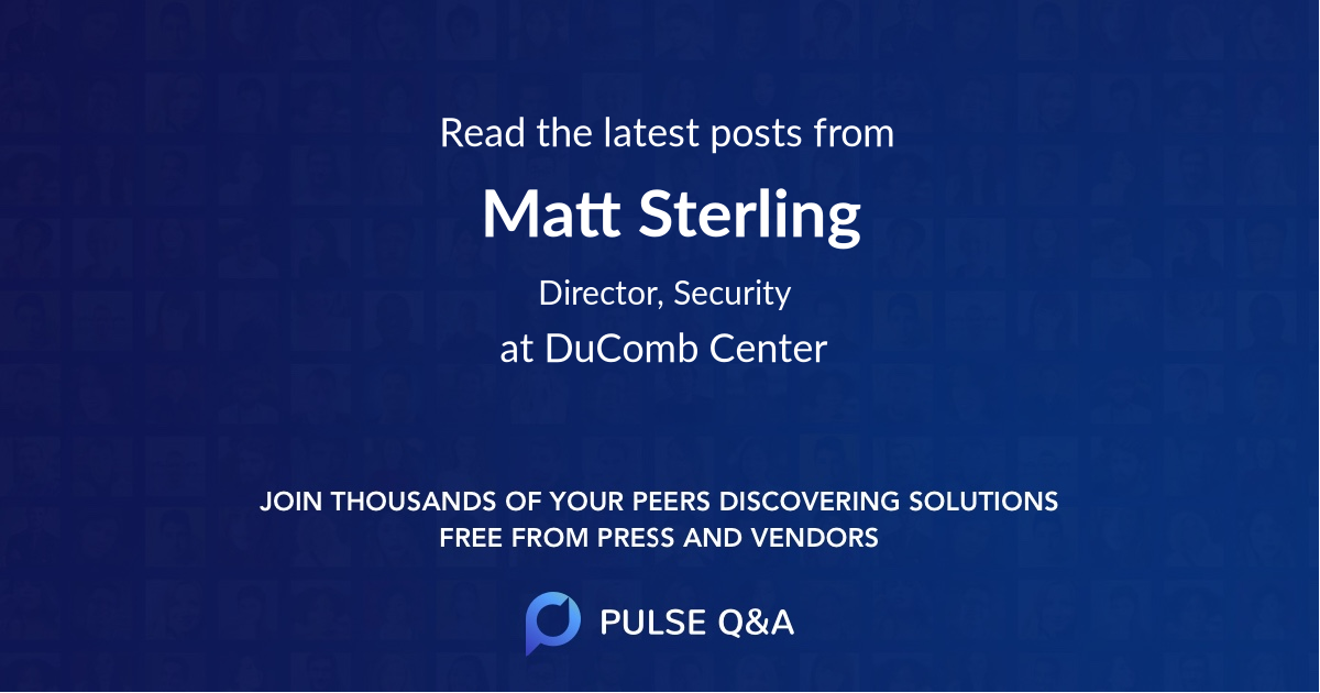 Matt Sterling
